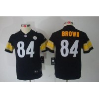 Nike Steelers #84 Antonio Brown Black Team Color Youth Stitched NFL Limited Jersey