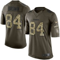 Nike Steelers #84 Antonio Brown Green Men's Stitched NFL Limited Salute to Service Jersey