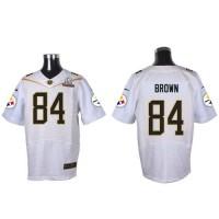 Nike Steelers #84 Antonio Brown White 2016 Pro Bowl Men's Stitched NFL Elite Jersey