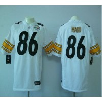 Nike Steelers #86 Hines Ward White Men's Stitched NFL Game Jersey