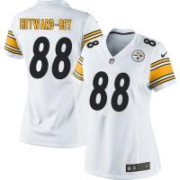Nike Steelers #88 Darrius Heyward-Bey White Women's Stitched NFL Elite Jersey