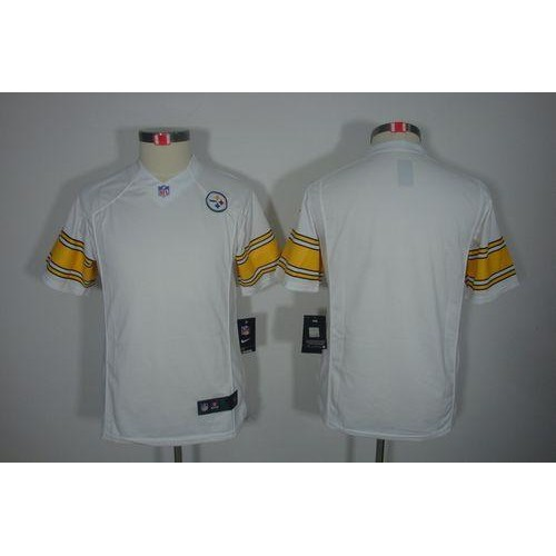 0ec946b0d15d Nike Steelers Blank White Youth Stitched NFL Limited Jersey