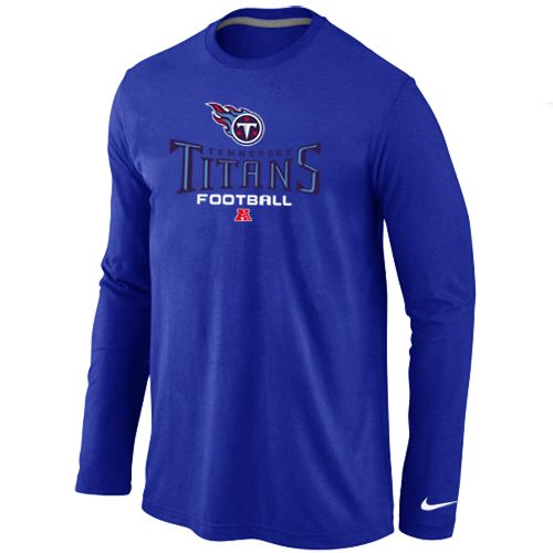Nike Tennessee Titans Critical Victory Long Sleeve T Shirt Blue  hot sale