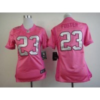 Nike Texans #23 Arian Foster Pink Women's Be Luv'd Stitched NFL Elite Jersey