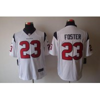 Nike Texans #23 Arian Foster White Men's Stitched NFL Limited Jersey