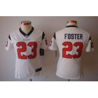 Nike Texans #23 Arian Foster White Women's Stitched NFL Limited Jersey
