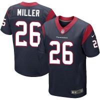 Nike Texans #26 Lamar Miller Navy Blue Team Color Men's Stitched NFL Elite Jersey
