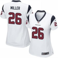 Nike Texans #26 Lamar Miller White Women's Stitched NFL Elite Jersey