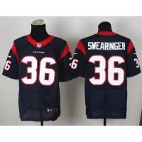 Nike Texans #36 D.J. Swearinger Navy Blue Team Color Men's Stitched NFL Elite Jersey