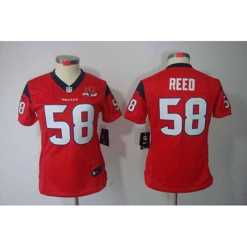 New Nike Texans #58 Brooks Reed Red Alternate With 10TH Patch Women's  supplier
