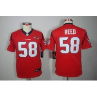 Nike Texans #58 Brooks Reed Red Alternate With 10TH Patch Youth Stitched NFL Limited Jersey