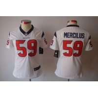 Nike Texans #59 Whitney Mercilus White Women's Stitched NFL Limited Jersey