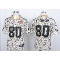 Nike Texans #80 Andre Johnson Camo USMC Men's Stitched NFL Elite Jersey