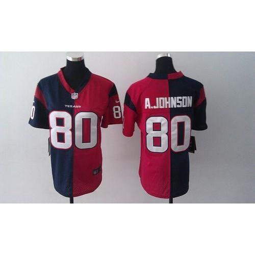 Nike Texans  80 Andre Johnson Navy BlueRed Women s Stitched NFL Elite Split  Jersey 00b638fb9