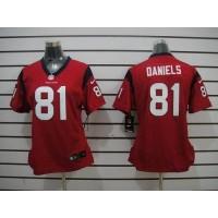 Nike Texans #81 Owen Daniels Red Alternate Women's Stitched NFL Elite Jersey