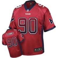 Nike Texans #90 Jadeveon Clowney Red Alternate Men's Stitched NFL Elite Drift Fashion Jersey