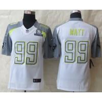 Nike Texans #99 J.J. Watt White Pro Bowl Men's Stitched NFL Elite Team Carter Jersey