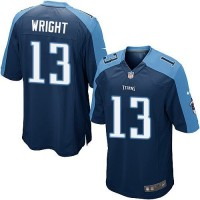 Nike Titans #13 Kendall Wright Navy Blue Alternate Youth Stitched NFL Elite Jersey