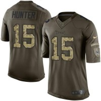 Nike Titans #15 Justin Hunter Green Men's Stitched NFL Limited Salute to Service Jersey