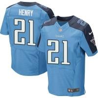 Nike Titans #21 Derrick Henry Light Blue Team Color Men's Stitched NFL Elite Jersey