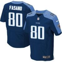 Nike Titans #80 Anthony Fasano Navy Blue Alternate Men's Stitched NFL Elite Jersey