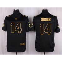 Nike Vikings #14 Stefon Diggs Black Men's Stitched NFL Elite Pro Line Gold Collection Jersey