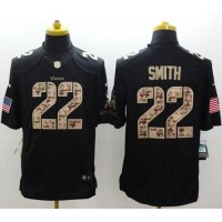 Nike Vikings #22 Harrison Smith Black Men's Stitched NFL Limited Salute to Service Jersey