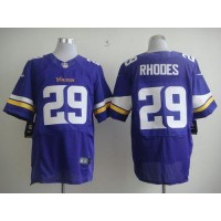 Nike Vikings #29 Xavier Rhodes Purple Team Color Men's Stitched NFL Elite Jersey