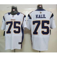 Nike Vikings #75 Matt Kalil White Men's Stitched NFL Elite Jersey