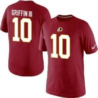 Nike Washington Redskins #10 Robert Griffin III Pride Name & Number NFL T-Shirt Red