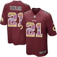 Nike Washington Redskins #21 Sean Taylor Burgundy Red Team Color Men's Stitched NFL Limited Strobe Jersey