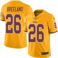 Nike Washington Redskins #26 Bashaud Breeland Gold Men's Stitched NFL Limited Rush Jersey
