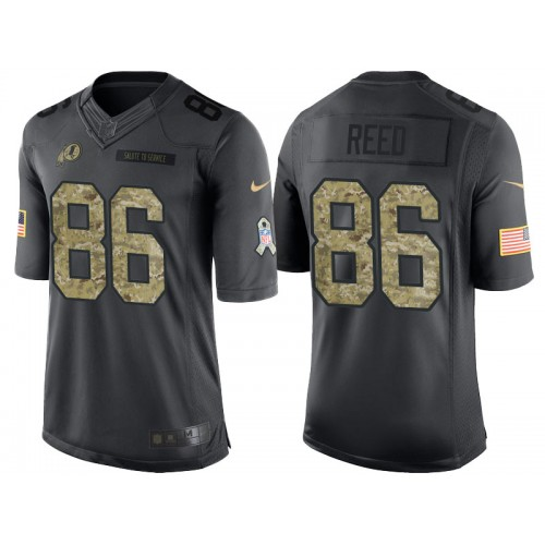 Nike Washington Redskins #86 Jordan Reed Men's Stitched Anthracite