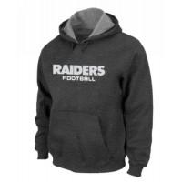 Oakland Raiders Authentic Font Pullover Hoodie Dark Grey