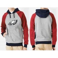 Philadelphia Eagles Logo Pullover Hoodie Grey & Red