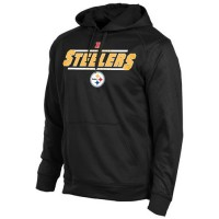 Pittsburgh Steelers Majestic Synthetic Hoodie Sweatshirt Black