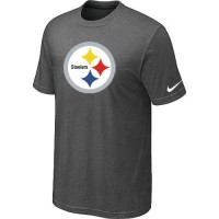 Pittsburgh Steelers Sideline Legend Authentic Logo Dri-FIT Nike NFL T-Shirt Crow Grey