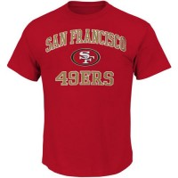 San Francisco 49ers Majestic Big and Tall Heart & Soul III T-Shirt Scarlet