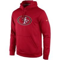 San Francisco 49ers Nike Practice Performance Pullover Hoodie Scarlet