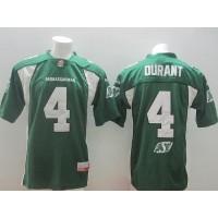 Saskatchewan Roughriders #4 Darian Durant Green Stitched CFL Jersey