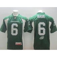 Saskatchewan Roughriders #6 Rob Bagg Green Stitched CFL Jersey