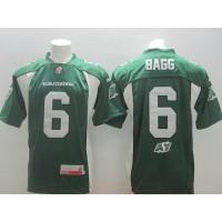 Saskatchewan Roughriders #6 Rob Bagg Green Stitched CFL Jersey