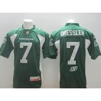 Saskatchewan Roughriders #7 Weston Dressler Green Stitched CFL Jersey