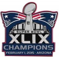 Stitched 2015 NFL Super Bowl XLIX 49 Champions New England Patriots Jersey Patch In Arizona