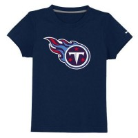Tennessee Titans Sideline Legend Authentic Logo Youth T-Shirt Dark Blue