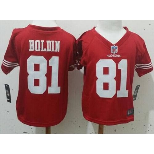 630d9351391 Toddler Nike 49ers  81 Anquan Boldin Red Team Color Stitched NFL Elite  Jersey