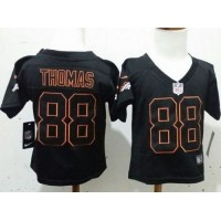 Toddler Nike Broncos #88 Demaryius Thomas Lights Out Black Stitched NFL Elite Jersey