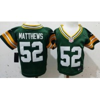 Toddler Nike Packers #52 Clay Matthews Green Team Color Stitched NFL Elite Jersey