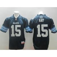 Toronto Argonauts #15 Ricky Ray Navy Blue Stitched CFL Jersey