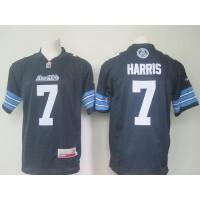Toronto Argonauts #7 Trevor Harris Navy Blue Stitched CFL Jersey